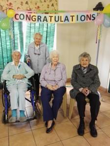 Frail care facility centenarians
